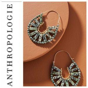 Anthropologie Calista Hoop Earrings